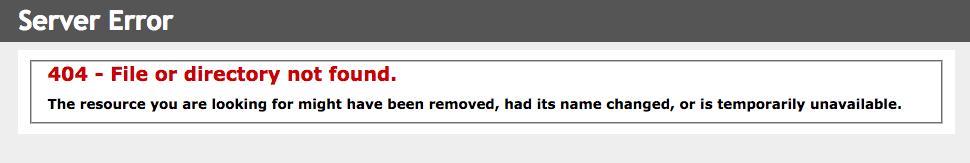 Http 404 hatası
