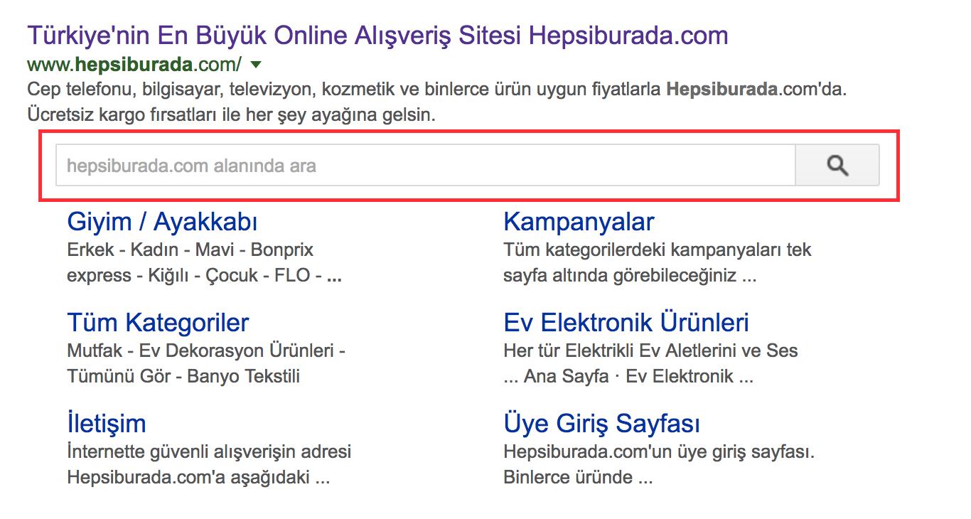 sitelinks search box nedir?