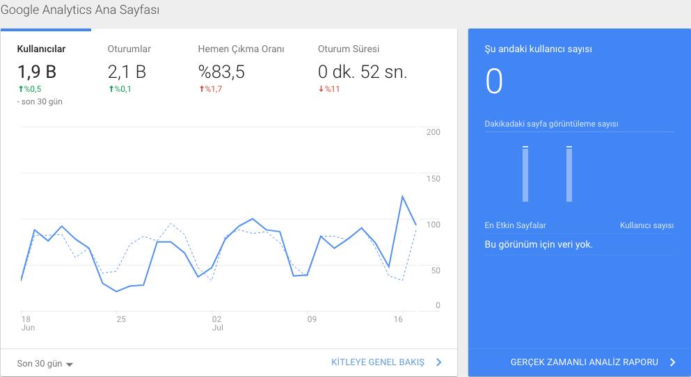 yeni başlayanlar için google analytics