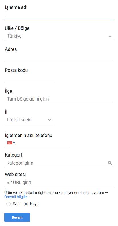 Google my businnes işletme kaydı
