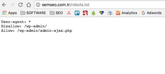 robots.txt örneği