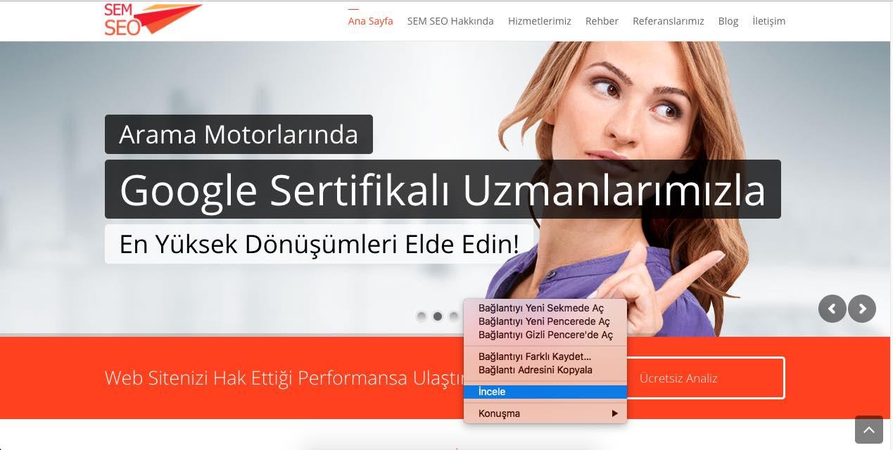 WebPageTest Site Hızı Test Sayfası