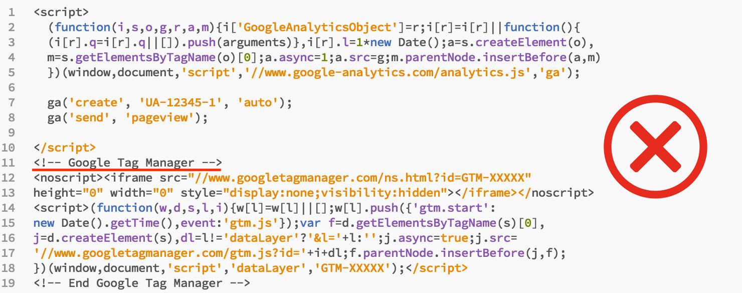 Google Tag Manager Hataları - Google Tag Manager ve Google Analytics kodlarının bir arada kullanılması