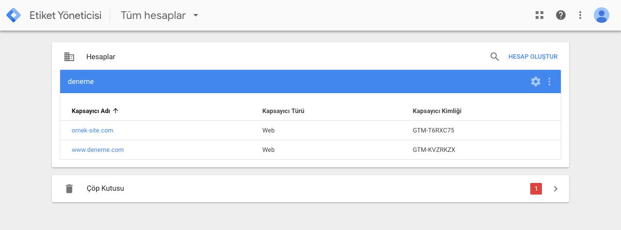 Google Tag Manager Kapsayıcılar - Triggers
