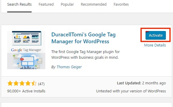 Duracell Tomi's Tag Manager