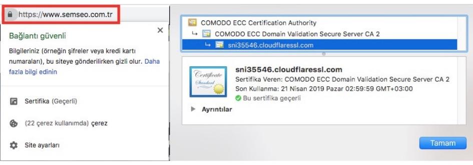 http https geçişi ssl sertifikası bilgileri